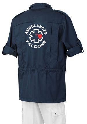 SAHARIENNE BLEU MARINE AMBULANCIER vêtements ambulanciers