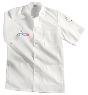 BLOUSE MIXTE BLANCHE AMBULANCIER vêtements ambulanciers