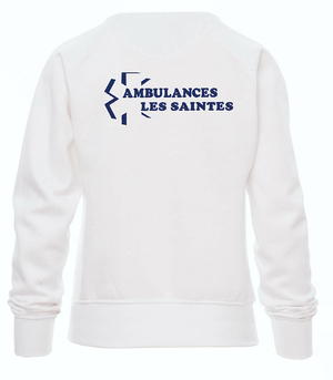 Sweat ambulancière blanc
